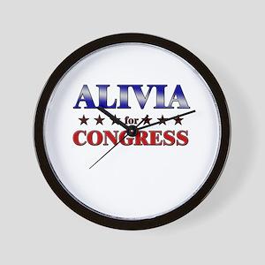 ALIVIA for congress Wall Clock