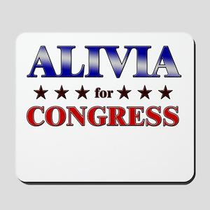 ALIVIA for congress Mousepad