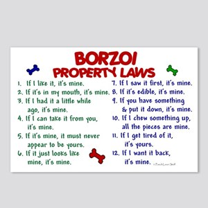 Borzoi Property Laws 2 Postcards (Package of 8)