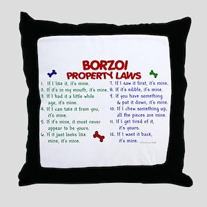 Borzoi Property Laws 2 Throw Pillow