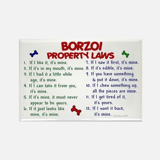 Borzoi Property Laws 2 Rectangle Magnet
