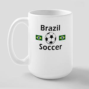 Brazil Soccer Large Mug