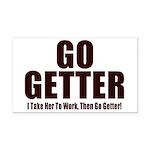 Go Getter Rectangle Car Magnet