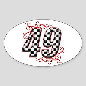 RaceFashion.com 49 Oval Sticker