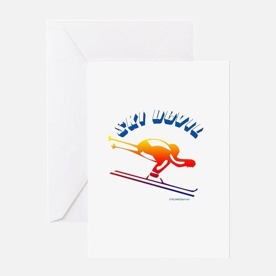 SKI DEVIL Greeting Card