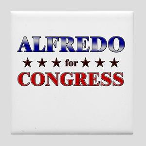 ALFREDO for congress Tile Coaster