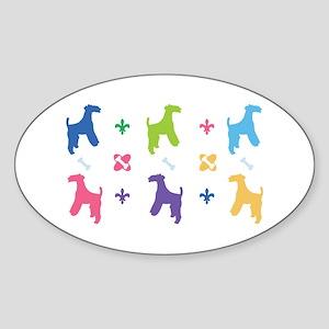 Welsh Terrier Designer Oval Sticker