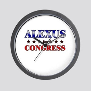 ALEXUS for congress Wall Clock
