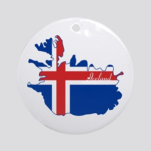 Cool Iceland Ornament (Round)