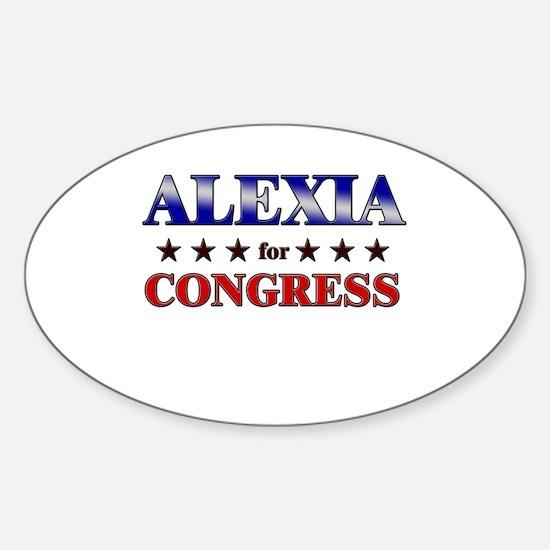 ALEXIA for congress Oval Decal