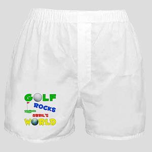 Golf Rocks Abril's World - Boxer Shorts