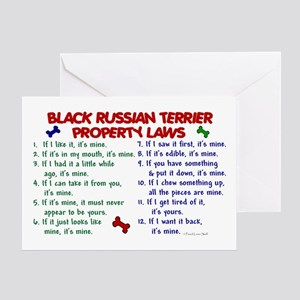 Russian greeting cards cafepress black russian terrier property laws 2 greeting car m4hsunfo