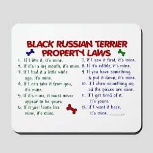 Black Russian Terrier Property Laws 2 Mousepad