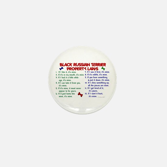 Black Russian Terrier Property Laws 2 Mini Button