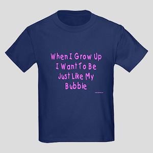 Just Like My Bubbie Kids Dark T-Shirt