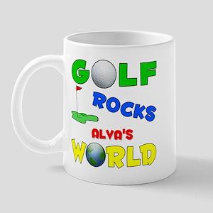 Golf Rocks Alva's World - Mug