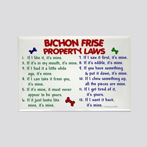 Bichon Frise Property Laws 2 Rectangle Magnet
