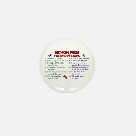 Bichon Frise Property Laws 2 Mini Button