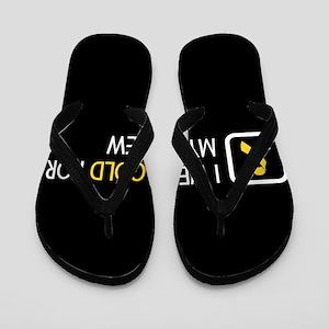 Childhood Cancer: Gold For My Nephew Flip Flops