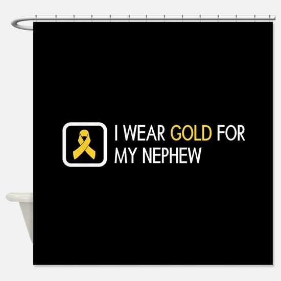 Childhood Cancer: Gold For My Nephe Shower Curtain