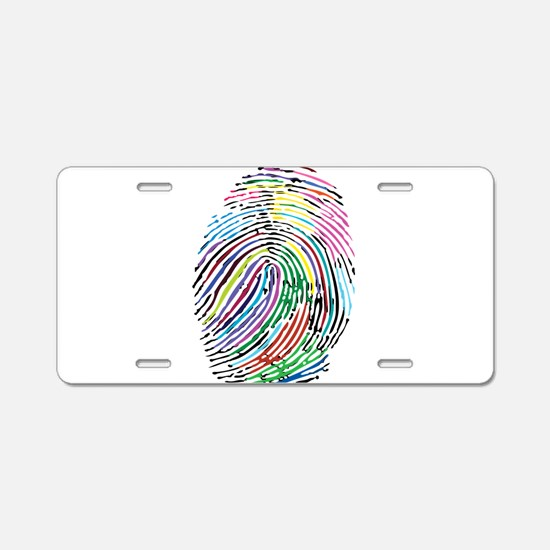 Colorful Fingerprint Aluminum License Plate