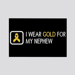 Childhood Cancer: Gold For My Nep Rectangle Magnet