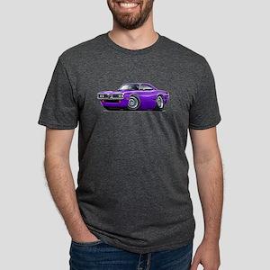 Super Bee Purple-Black Hood Scoop T-Shirt