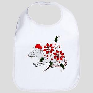 Christmas Rat Bib