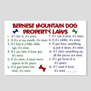 Bernese Mountain Dog Property Laws 2 Postcards (Pa