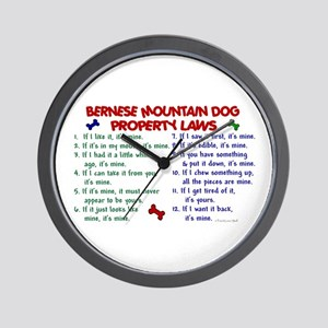 Bernese Mountain Dog Property Laws 2 Wall Clock