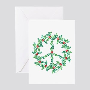 Peace Wreath2 VT Greeting Cards