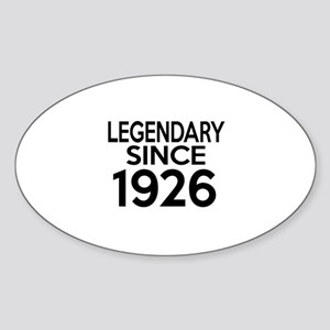 Legendary Since 1926 Sticker (Oval)