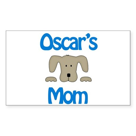 Oscar's Mom Rectangle Sticker