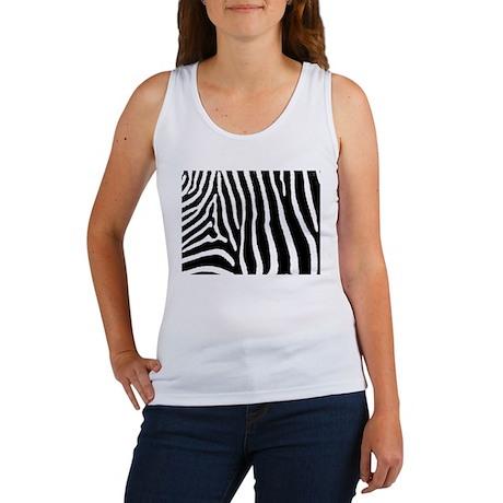 Helaine's Zebra Pattern Women's Tank Top