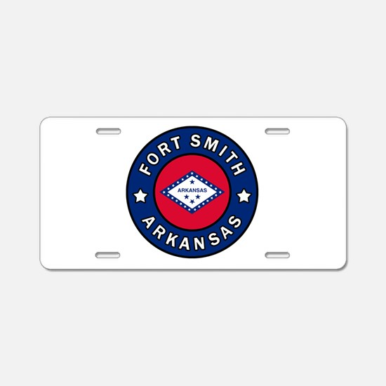 Fort Smith Arkansas Aluminum License Plate