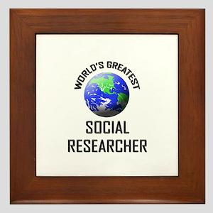 World's Greatest SOCIAL RESEARCHER Framed Tile