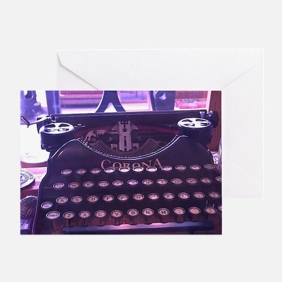 Funny Typewriter Greeting Card