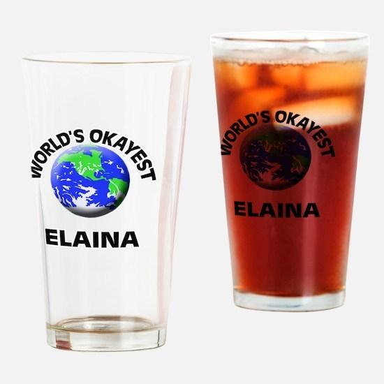 World's Okayest Elaina Drinking Glass