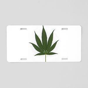 Marijuana Leaf Aluminum License Plate