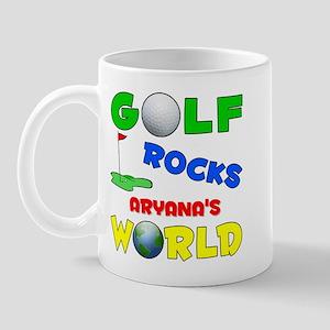 Golf Rocks Aryana's World - Mug