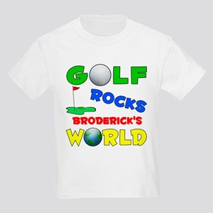 Golf Rocks Broderick's World Kids Light T-Shirt