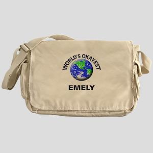 World's Okayest Emely Messenger Bag