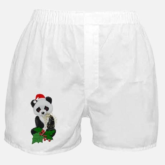 Christmas Panda Boxer Shorts