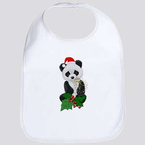 Christmas Panda Bib