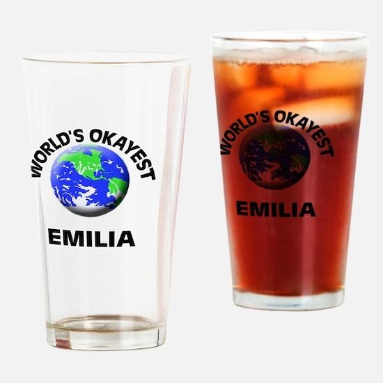World's Okayest Emilia Drinking Glass