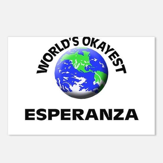 World's Okayest Esperanza Postcards (Package of 8)