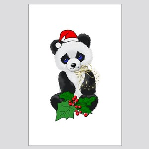 Christmas Panda Large Poster