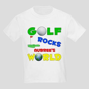 Golf Rocks Aubree's World - Kids Light T-Shirt