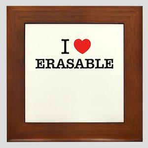I Love ERASABLE Framed Tile
