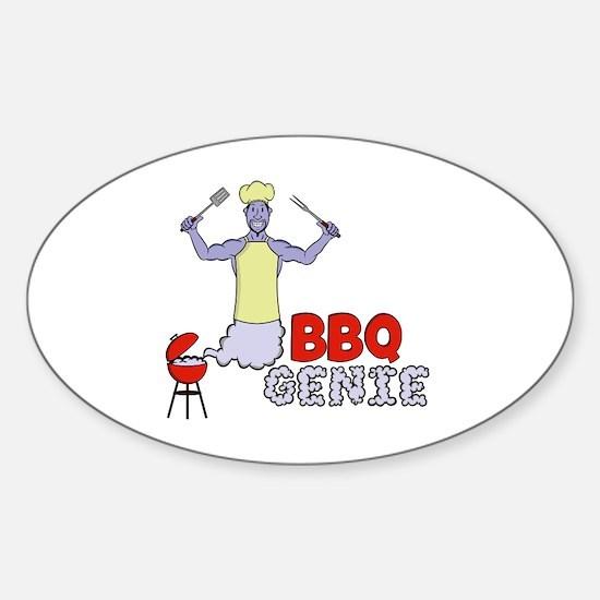 Cute Grill tools Sticker (Oval)